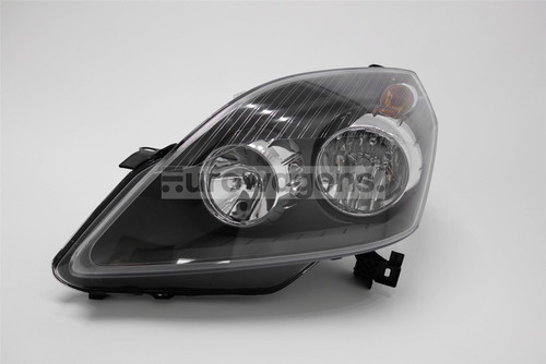 Headlight left black Vauxhall Zafira 05-08