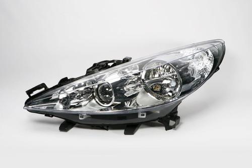 Headlight left with fog light Peugeot 207 06-12