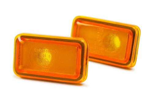 Side indicators set orange Audi Cabriolet 91-00