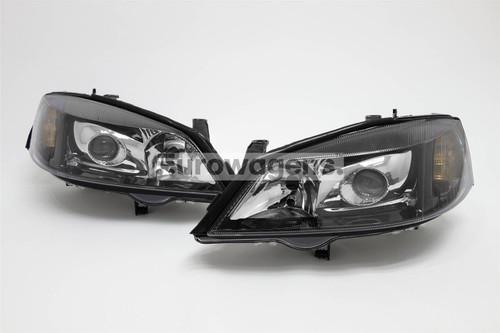 Headlights set xenon look Vauxhall Astra G 98-04