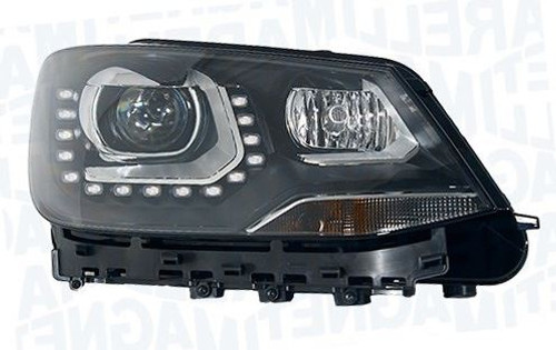 Headlight right bi-xenon LED DRL AFS high beam assist VW Sharan 10-14