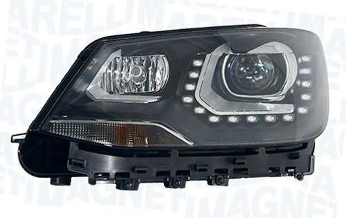 Headlight left bi-xenon LED DRL AFS high beam assist VW Sharan 10-14