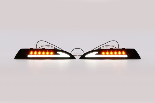 Front indicators set black LED with DRL VW Scirocco MK3 08-13
