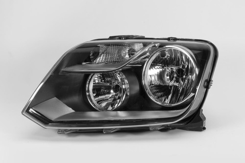 Headlight left black VW Amarok 10-