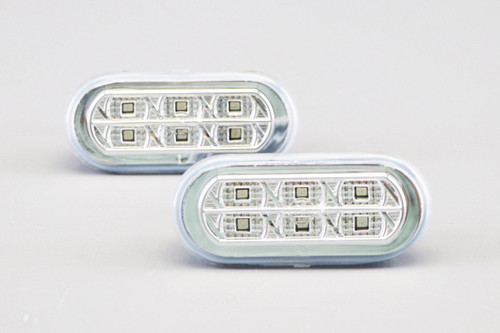 Side indicators set crystal clear LED Seat Toledo MK2 98-04