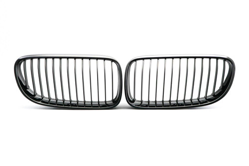 Kidney grille gloss black M performance look BMW 3 Series E92 10-13
