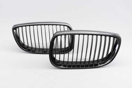 Kidney grille gloss black M performance look BMW 3 Series E90 06-10