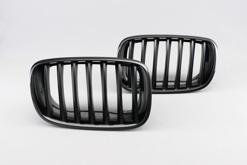 Kidney grille gloss black M performance look BMW X6 E71 07-13