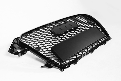 Front grille gloss black frame RS Look with PDC holes Audi A4 12-15
