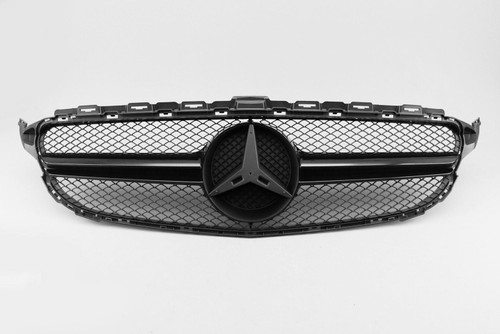 Front grille gloss black AMG C63 look Mercedes-Benz C Class W205 15-18