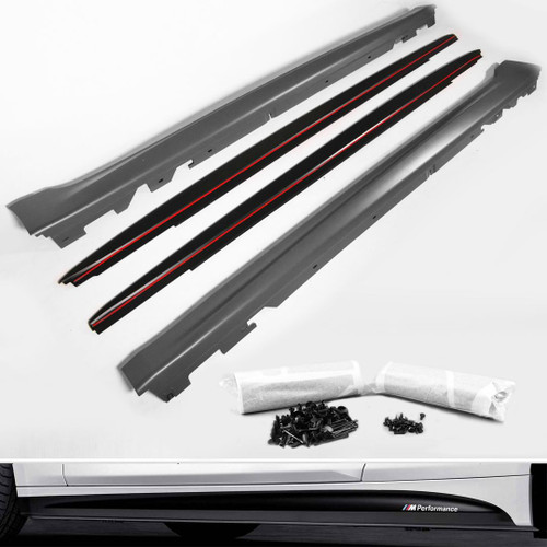 Side skirt sill set with blades M performance look BMW 5 Series G30 17-