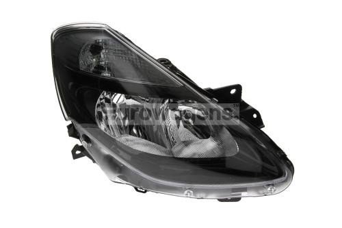 Headlight right black Renault Clio MK3 09-11 Valeo