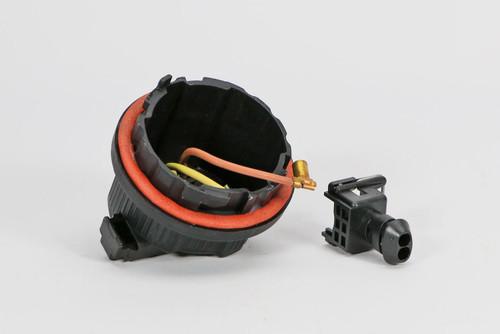 Headlight dust cap with plug