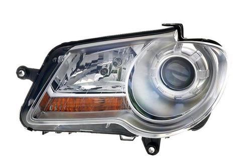 Headlight left chrome VW Touran 07-10