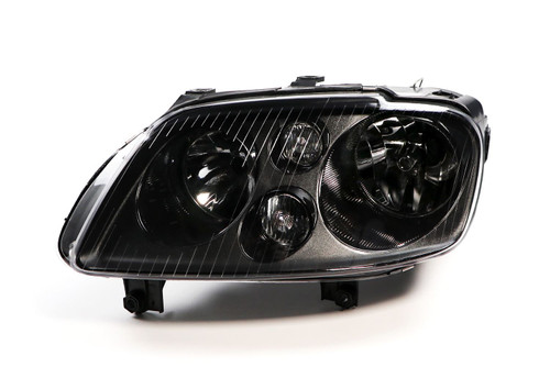 Headlight left black with fog light VW Caddy MK3 03-10