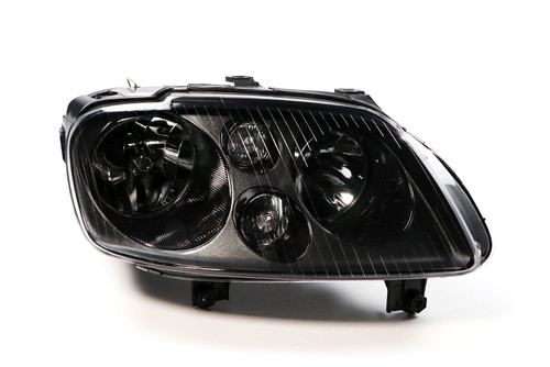 Headlight right black with fog light VW Caddy MK3 03-10