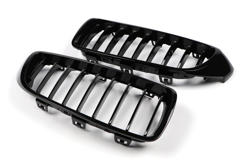 Kidney grille full gloss black M performance look BMW 4 Series F32 14-