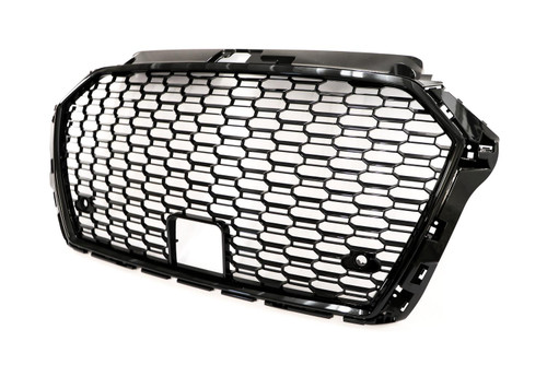 Front grille gloss black frame RS Look with PDC holes Audi A3 17-