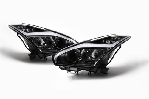 Xenon lightning bolt headlight set LED indicator Nissan GT-R 07-14