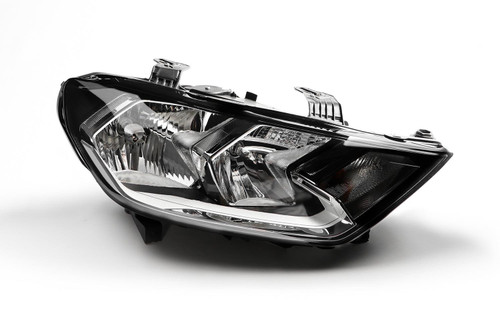 Headlight right black Audi A1 18-