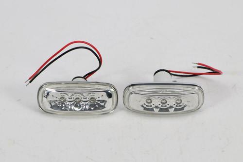 Side indicators set LED chrome Audi A8 99-02