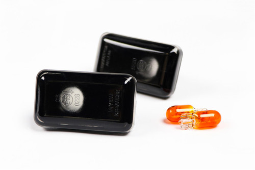 Side indicators set with bulbs black Porsche 911 964 993 88-97