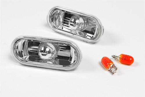 Side indicators set crystal clear VW Bora 98-05