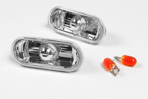 Side indicators set crystal clear VW Caddy MK2 00-04