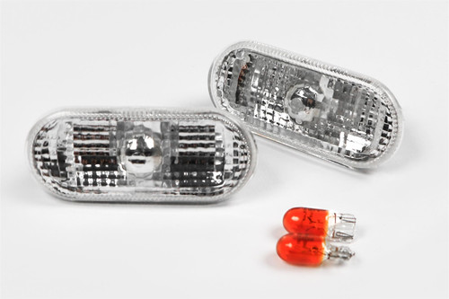 Side indicators set clear VW Caddy MK2 00-03
