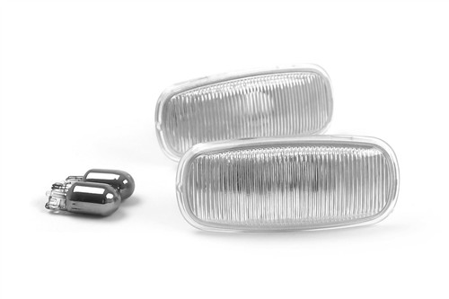 Side indicator set clear with bulbs Audi A8 99-02