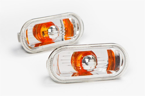 Side indicators set crystal orange VW Fox 05-11