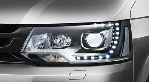 Headlights set LED DRL xenon look VW Transporter T5.1 Caravelle