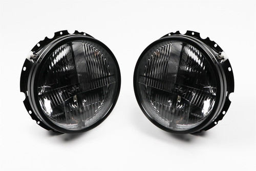Smoked crosshair headlight set VW MK1 Caddy 82-92