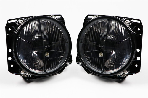 Smoked crosshair headlights set VW Golf MK2 84-92