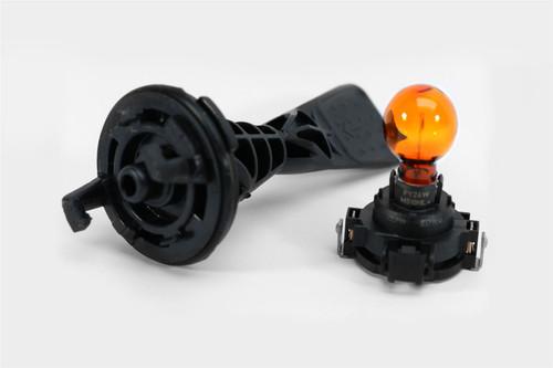 PY24W amber orange indicator bulb with holder xenon headlight VW Transporter T5 10-15