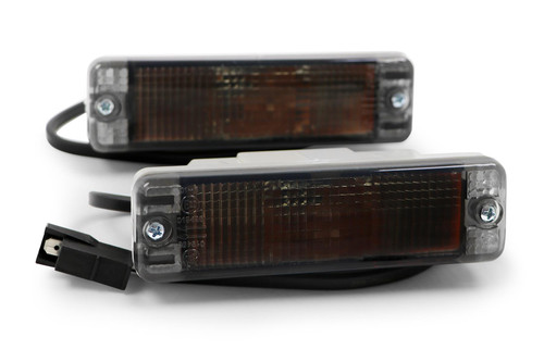 Front indicators set smoked VW Golf MK2 84-92 small bumper only