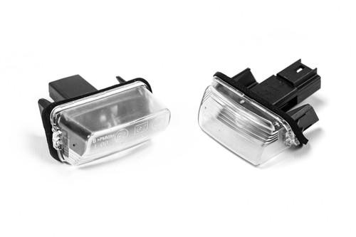 Number plate light set genuine Citroen C3 02-10