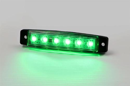 LED green universal side marker light