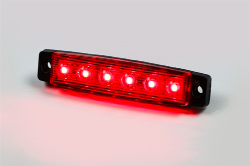 LED red universal side marker light