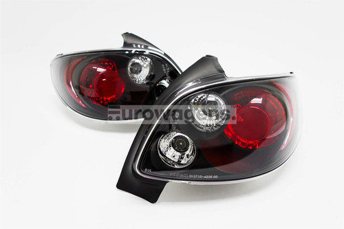 Rear lights set black Peugeot 206 98-11