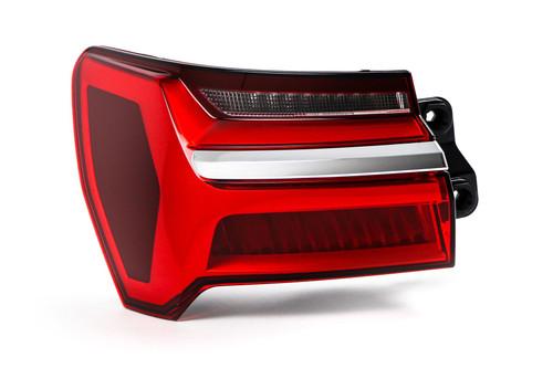 Rear light left LED chrome trim Audi A6 19- Saloon Estate