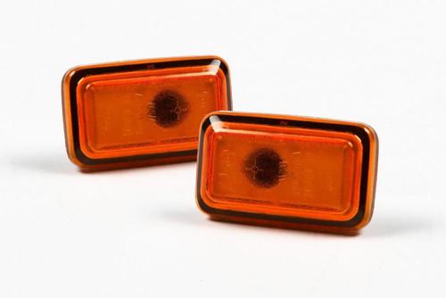 Side indicators set orange Audi 100 82-94 Hella