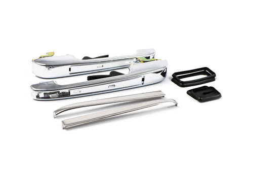 Door handle set chrome rear without lock VW Caddy MK1 MK2 82-04