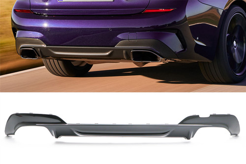 Rear bumper diffuser M Sport double exhaust BMW 3 Series G20 340i 19-