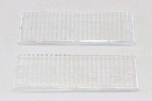 Front indicator lenses set clear BMW E30 3 Series 83-91