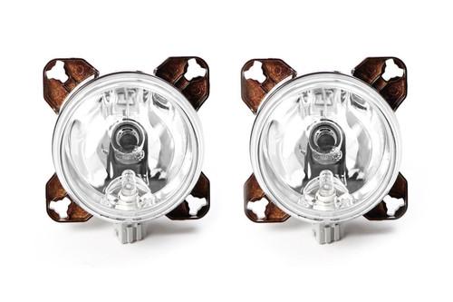 Hella 90mm main beam sidelight H7 headlight set with bulb and fixing kit Morette Citroen Saxo Renault Megane