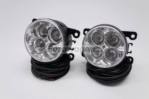 Fog lights set DRL LED with wiring OEM Mitsubishi L200 05-15