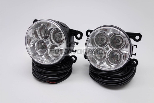 Fog lights set DRL LED with wiring OEM Mitsubishi L200 05-15