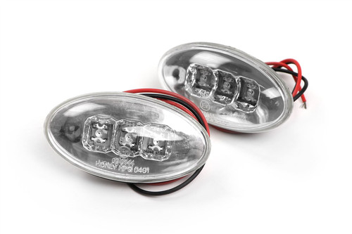 Side indicator set LED crystal clear Peugeot 607 00-10