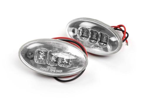 Side indicator set LED crystal clear Citroen C3 02-09